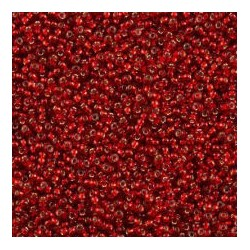 50 Grams 11-11 Miyuki Silver Lined Red Size 11 Seed Beads