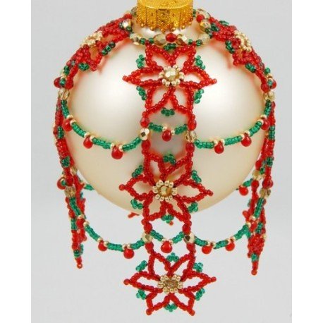 Cascading Poinsettia's Ornament Cover Pattern