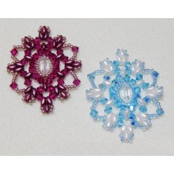 Snowflake 4 Beaded Ornament Pattern