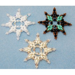 Snowflake 5 Beaded Ornament Pattern