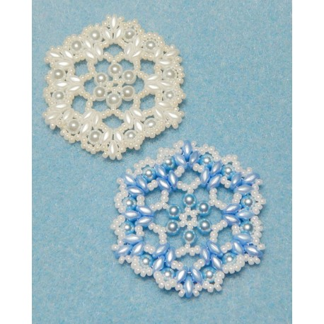 Snowflake 6 Beaded Ornament Pattern