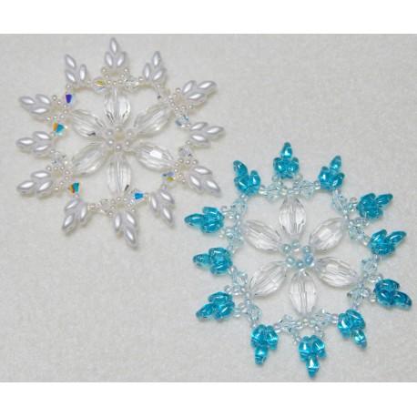 Snowflake 7 Beaded Ornament Pattern