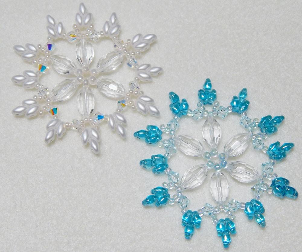 Snowflake 7 Beaded Ornament Pattern West Texas Jewels Snowflakescrochetpatterndiagram