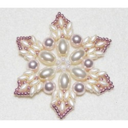 Snowflake 10 Beaded Ornament Pattern