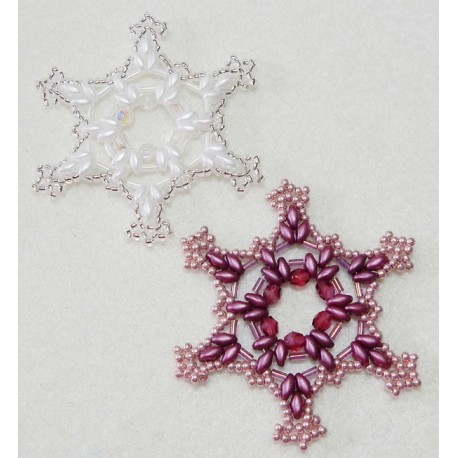 Snowflake 11 Beaded Ornament Pattern