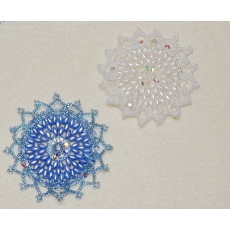 Snowflake 12 Beaded Ornament Pattern