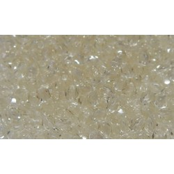 100 Pack 3mm Champagne Czech Fire Polished Crystals