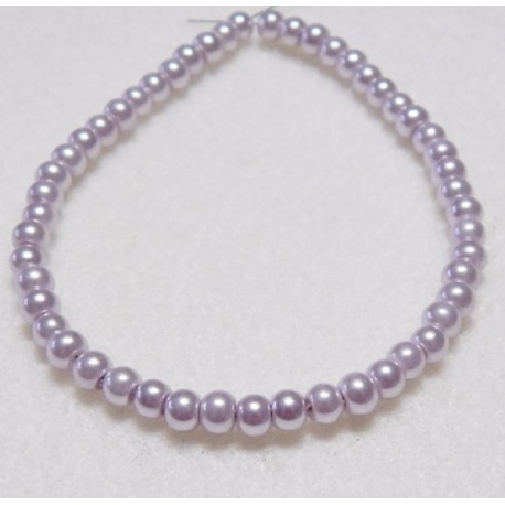 4mm Lavender Pearls 50 Pack
