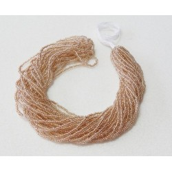 Champagne Lined Crystal Czech Seed Beads 1 Hank (12 strands) 33 Grams (Size 11)