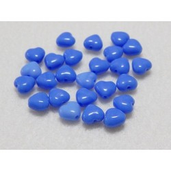 Czech 6.5x6mm Lt Blue Hearts (25 pack)