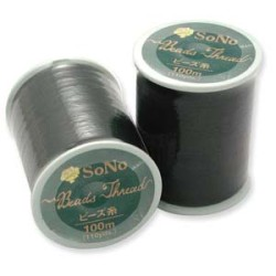 110 Yards SoNo Black Beading Thread