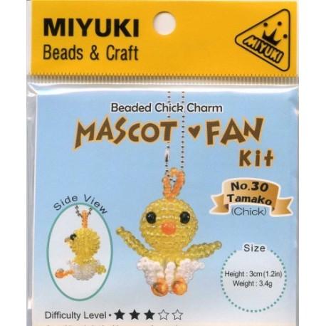 Miyuki Beaded Chick Charm Mascot Fan Kit