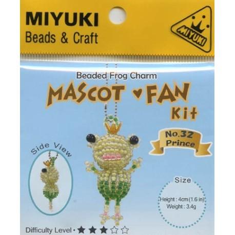 Miyuki Beaded Frog Charm Mascot Fan Kit