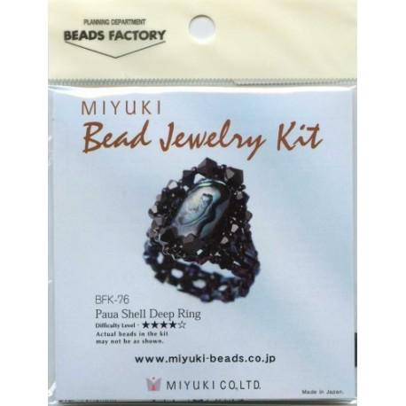 Miyuki Paua Shell Deep Ring Kit
