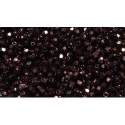 100 Pack 3mm Black Czech Fire Polished Crystals