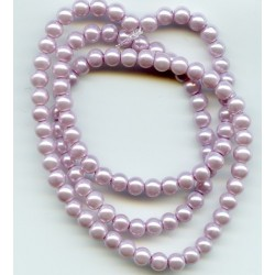 4mm Glass Pearls Lilac 16 Inch Strand