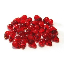 6x9 mm Red Fringe Drops Qty 40 each