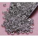 8 Grams 3.8 x 1 Czech Glass O Beads Labrador (Silver)