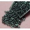8 Grams 3.8 x 1 Czech Glass O Beads Jet Hematite