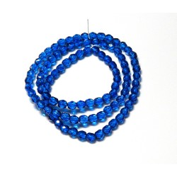 16 Inch Strand 4mm Sapphire Blue Dipped Decor Czech Fire Polished Crystals