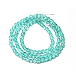 16 Inch Strand 4mm Lt. Aqua Czech Fire Polished Crystals