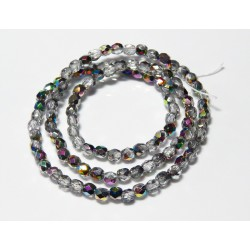 16 Inch Strand 4mm Clear Vitrail Czech Fire Polished Crystals