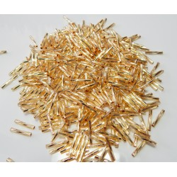 25 Grams TW2012-3 Twisted Bugle Beads S/L Gold