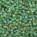 50 Grams 11-374 Turquoise Lined Lt. Topaz Luster