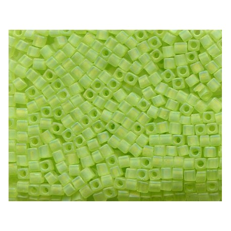 12 Grams 1.8 mm Miyuki SB18-143FR Matte TR Chartreuse AB Cube Beads