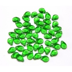 Qty 50 PIP Christmas Green 5x7 Beads