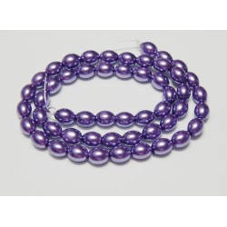 8x6 mm Purple Glass Pearl Oval