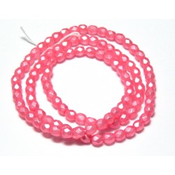 16 Inch Strand 4mm Dipped Decor Pearlescent Lt. Pink Czech Fire Polished Crystals