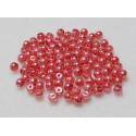 4mm Glass Pearls Dark Salmon Qty 100