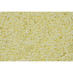10 Grams DB1521 Matte Op Pale Yellow AB 11 Delica Beads