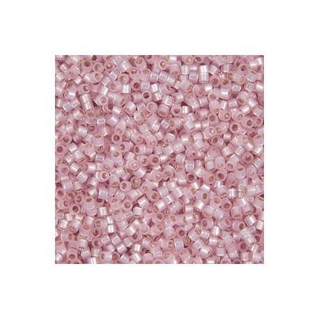 10 Grams Dyed Lt. Rose S/L Alabaster 11 Delica Beads