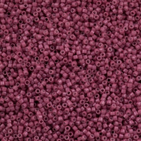 10 Grams DB1376 Dyed Op Antique Rose 11 Delica Beads