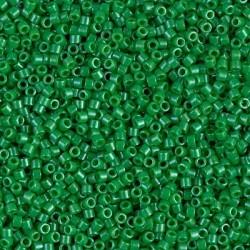 10 Grams DB0655 Miyuki Dyed OP Kelly Green Size 11 Delica Beads