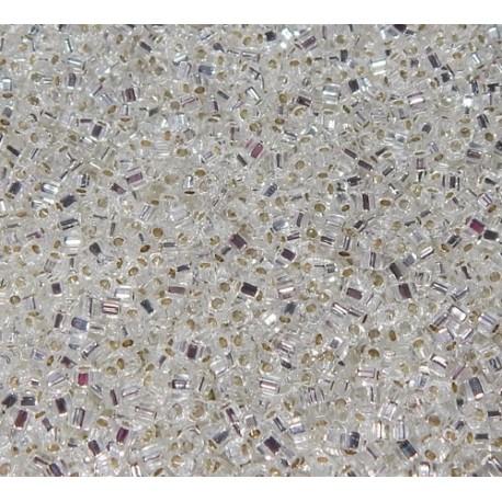 12 Grams 1.8 mm Miyuki SB18-1 Silver Lined Crystal Cube Beads