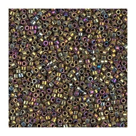 10 Grams DB0029 Miyuki MET Golden Olive Iris Size 11 Delica Beads