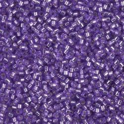 10 Grams DB1347 Miyuki Dyed S/L Purple Size 11 Delica Beads