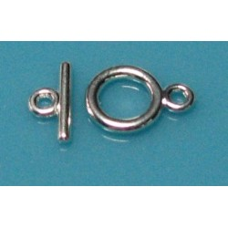 7mm Round Toggle Silver Plated Clasp