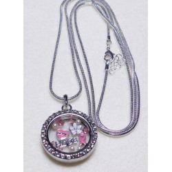 Hope Memory Locket with 36 inch Rope Chain