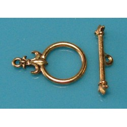 15 mm Fancy Antiqued Gold Togge Clasp