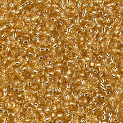 50 Grams 11-3 Silver Lined Gold Miyuki Seed Beads