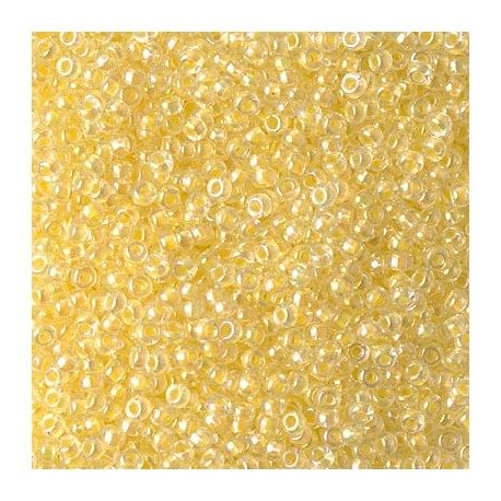 50 Grams 11-273 Lt. Yellow Lined Crystal Miyuki Seed Beads