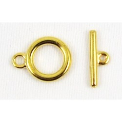 10 mm Smooth Gold Plated Toggle Clasp
