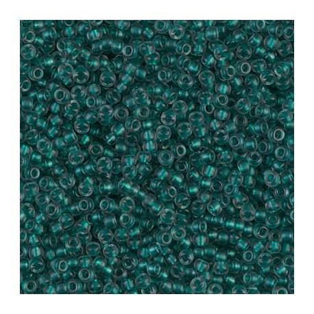 50 Grams 11-1933 SF Emerald Lined Lt. Gray Miyuki Seed Beads
