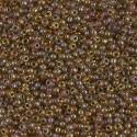 50 Grams 11-379 Mauve Lined Lt. Topaz Miyuki Seed Beads
