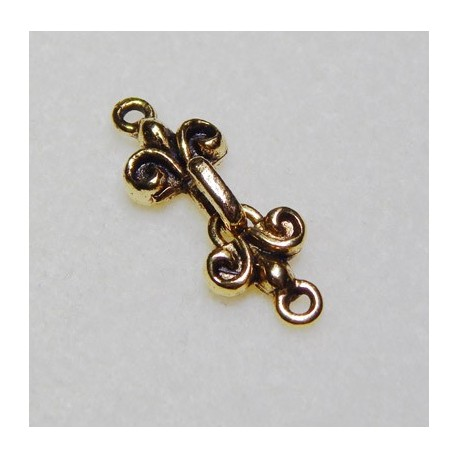 27 mm Hook and Loop Antiqued Gold Clasp Set