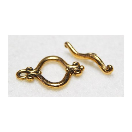 20 mm Fancy Antiqued Gold Toggle Clasp